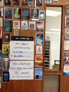 my old book door display