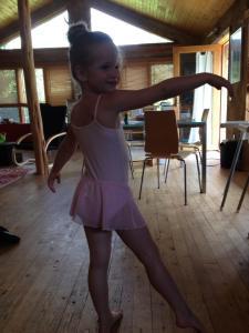 Doing ballet