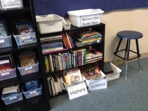 nonfiction gets it's own shelf