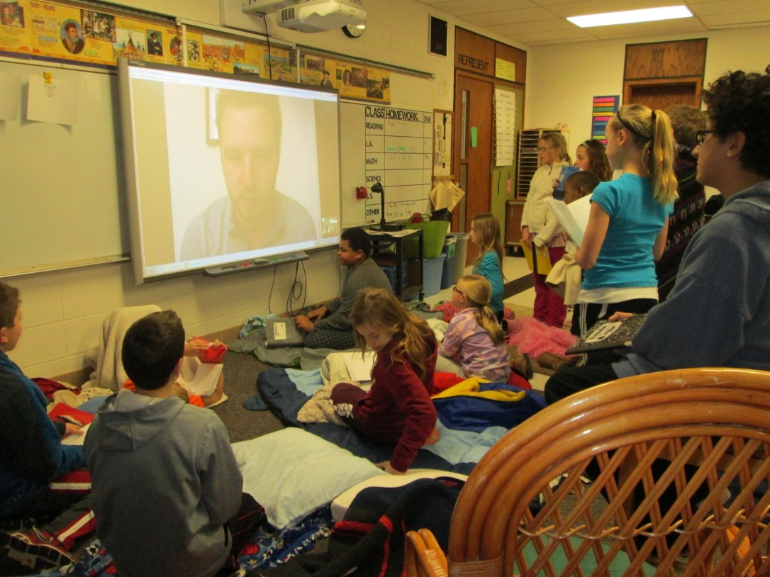 Students speak to author Adam Gidwitz